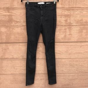 Holister Black High Rise Super Skinny Jeans